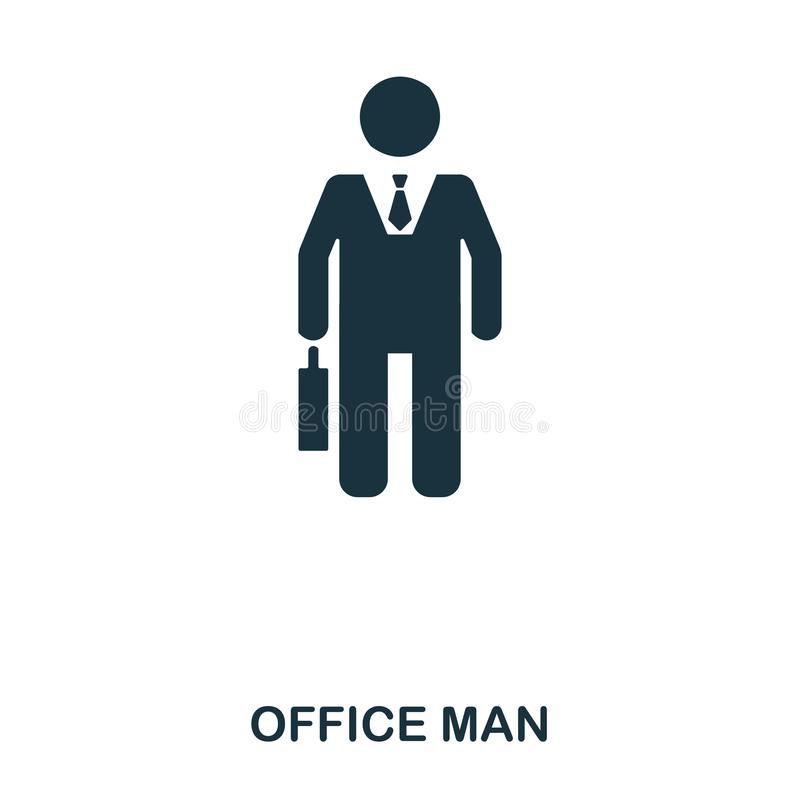 Office Man icon. Line style icon design. UI. Illustration of office man icon. Pictogram isolated on white. Ready to use. In web design, apps, software, print vector illustration