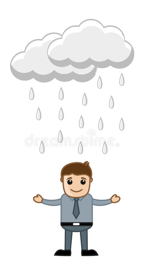 Download Office Man in the Rain stock vector. Illustration of cheerful - 32245577