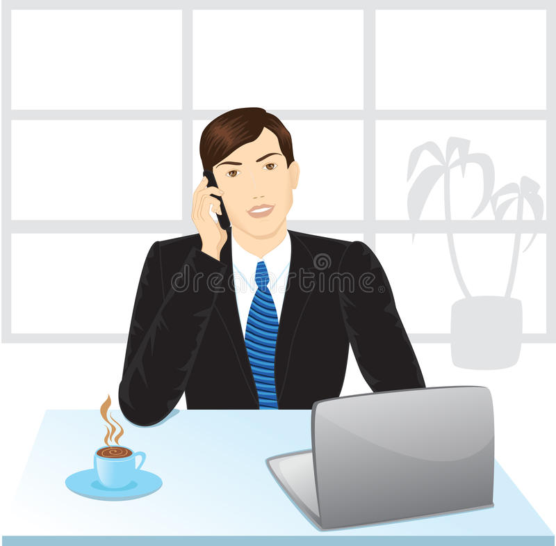 Download Office manager stock vector. Illustration of cabinet - 11079229