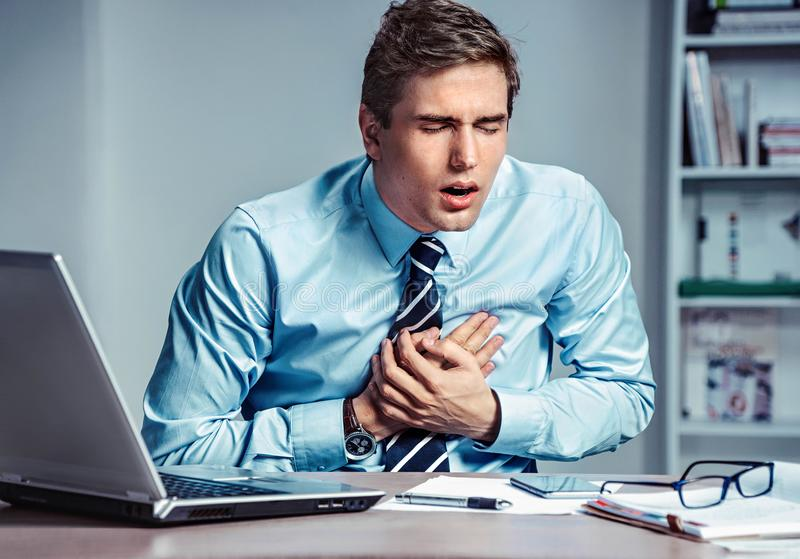Download Office Manager Having Heart Attack. Stock Photo - Image of financial, forex: 102313940