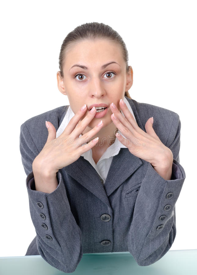 Office manager (reception desk worker) stock photos