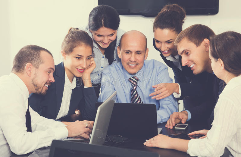 Office managers having a productive day at work stock photo
