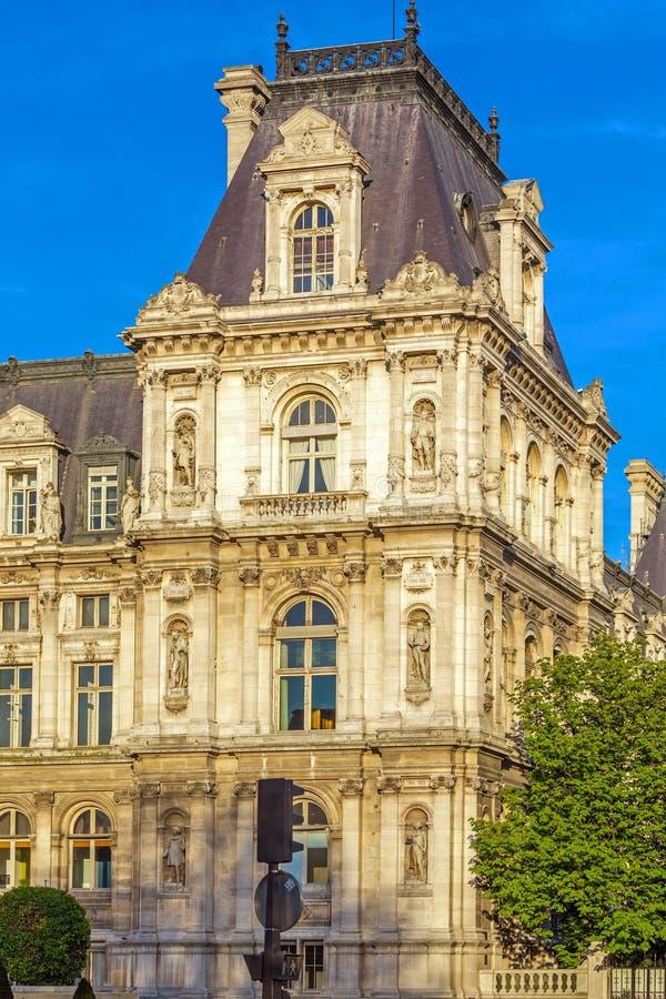 Office of Mayor of Paris - Hotel de Ville stock image