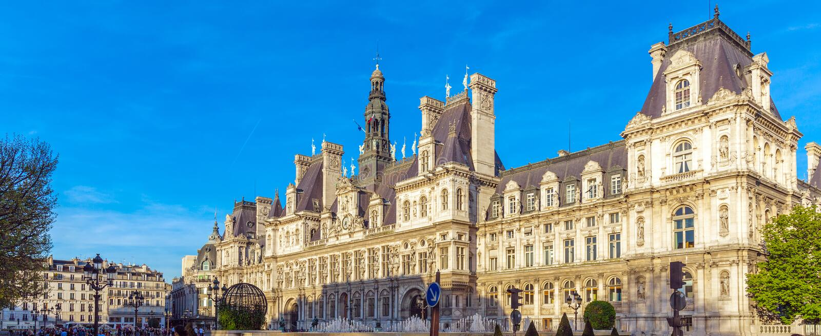 Office of Mayor of Paris - Hotel de Ville royalty free stock photography