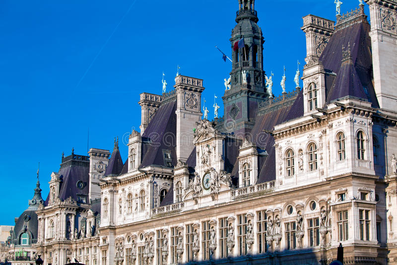 Office of Mayors - Hotel de Ville, Paris royalty free stock photo