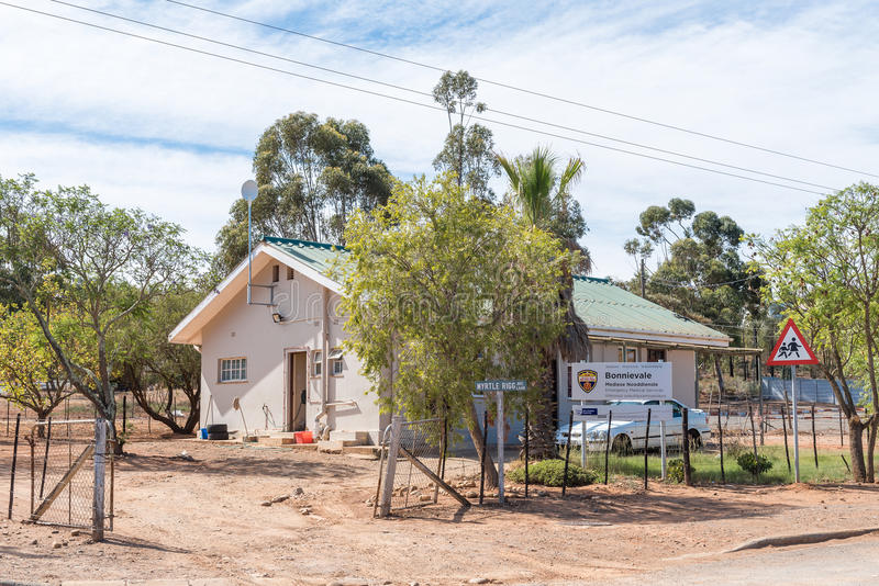 Office of the medical emergency services in Bonnievale. BONNIEVALE, SOUTH AFRICA - MARCH 26, 2017: The office of the medical emergency services in Bonnievale, a stock photography