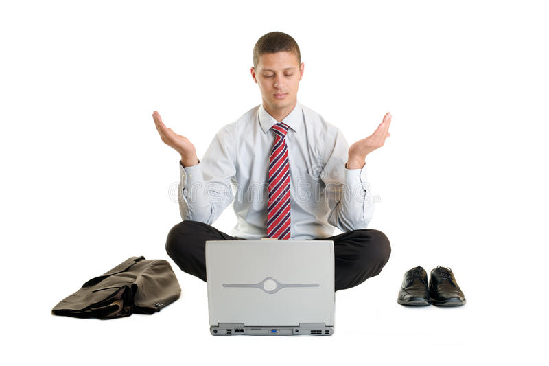 Download Office Meditation Stock Photo. Image Of Restless, Relaxation    9477040