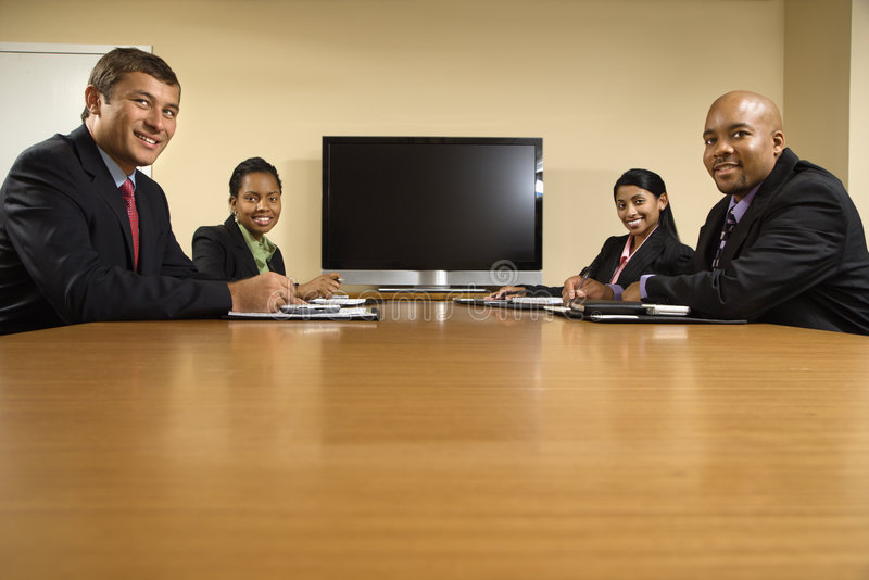 Office meeting. royalty free stock photo