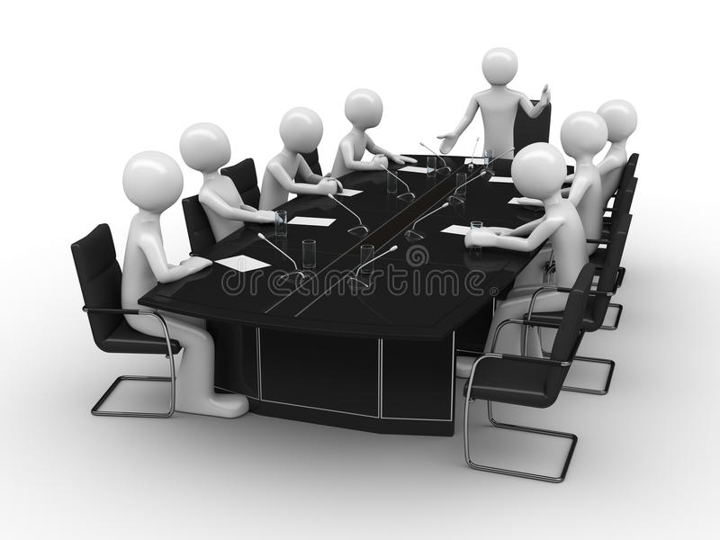 Office Meeting In Conference Room Stock Photography
