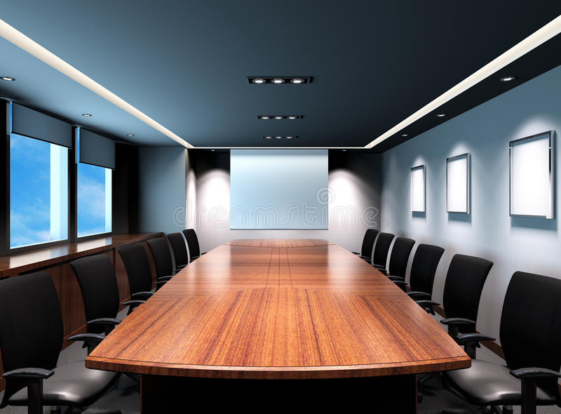 Office meeting room royalty free illustration