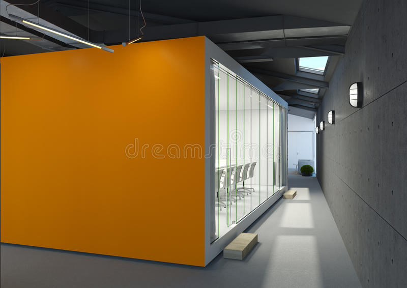 Office with meeting room stock photography