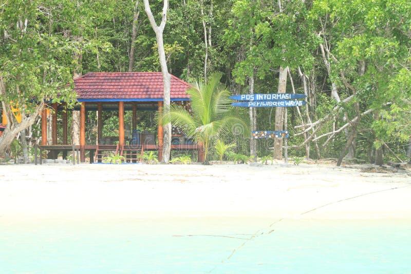 Office of National Park Raja Ampat in Wayag stock image