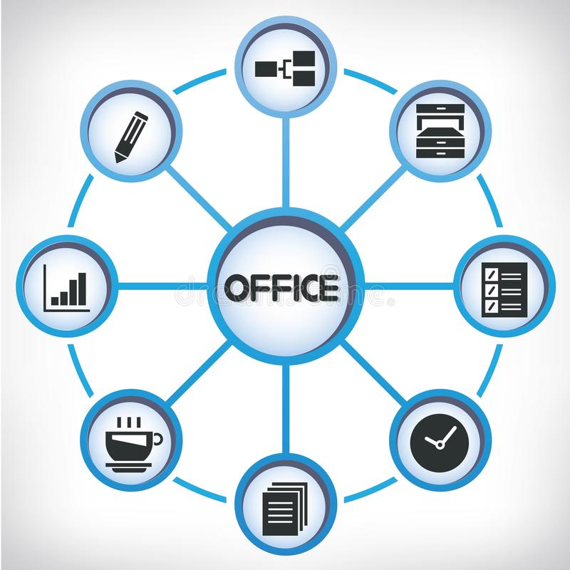 List Of Synonyms And Antonyms Of The Word Office Network Diagram
