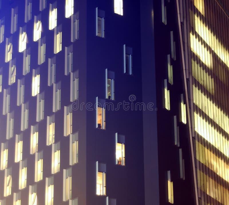 Office at night 2 stock photos