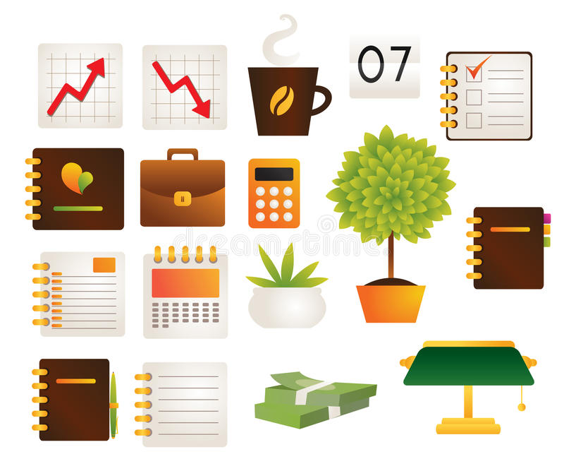Office objects stock illustration