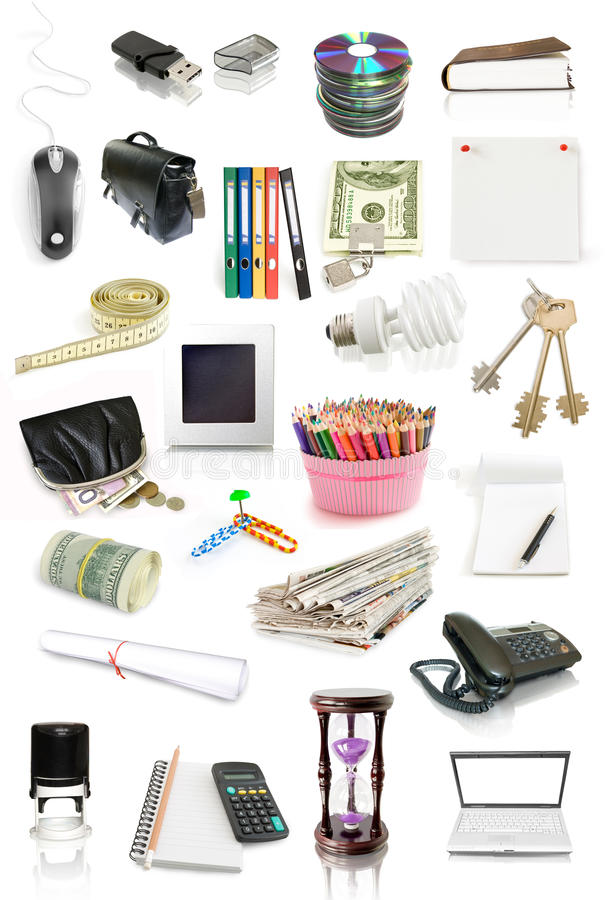 Download Office objects collection stock photo. Image of office - 16673198