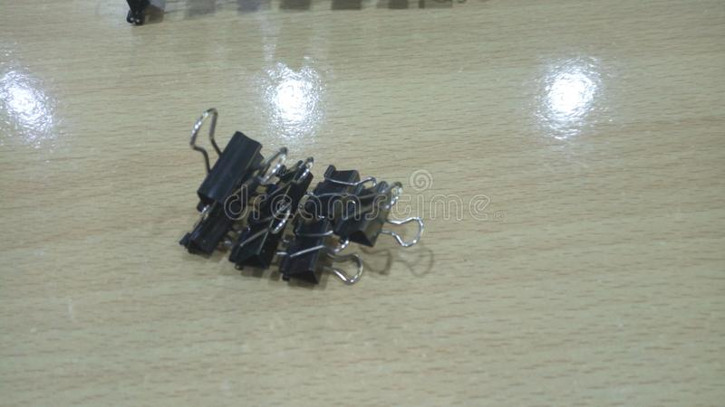 Office paper clip phone holder royalty free stock images