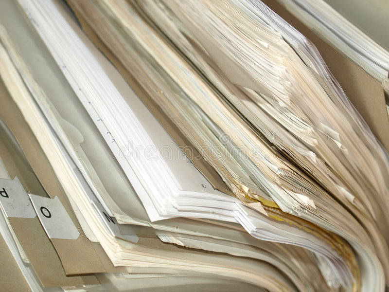 Download Office Paper Documents Royalty Free Stock Photography - Image: 6810377