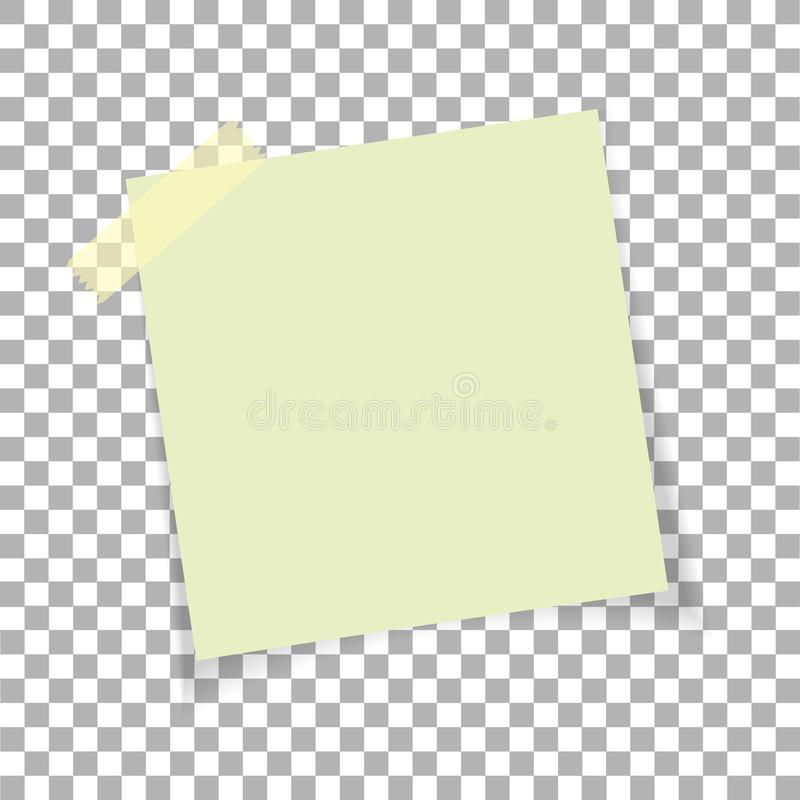Office Paper Sticky Note On Transparent Background Post On Sticky