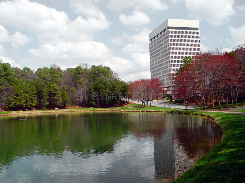 Office Park1 stock photography