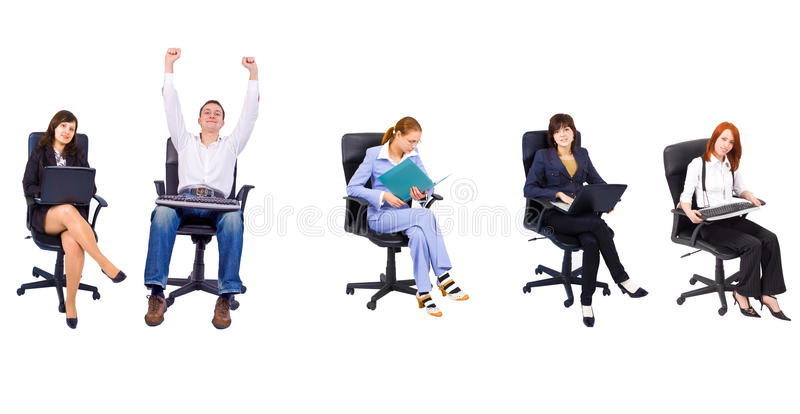 Office people royalty free stock photography