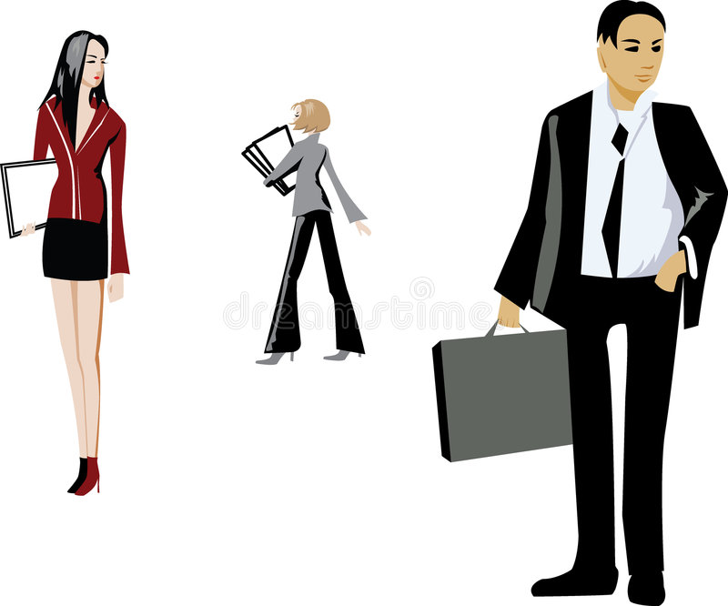 Download Office people stock vector. Image of office, girls, folder - 2323820