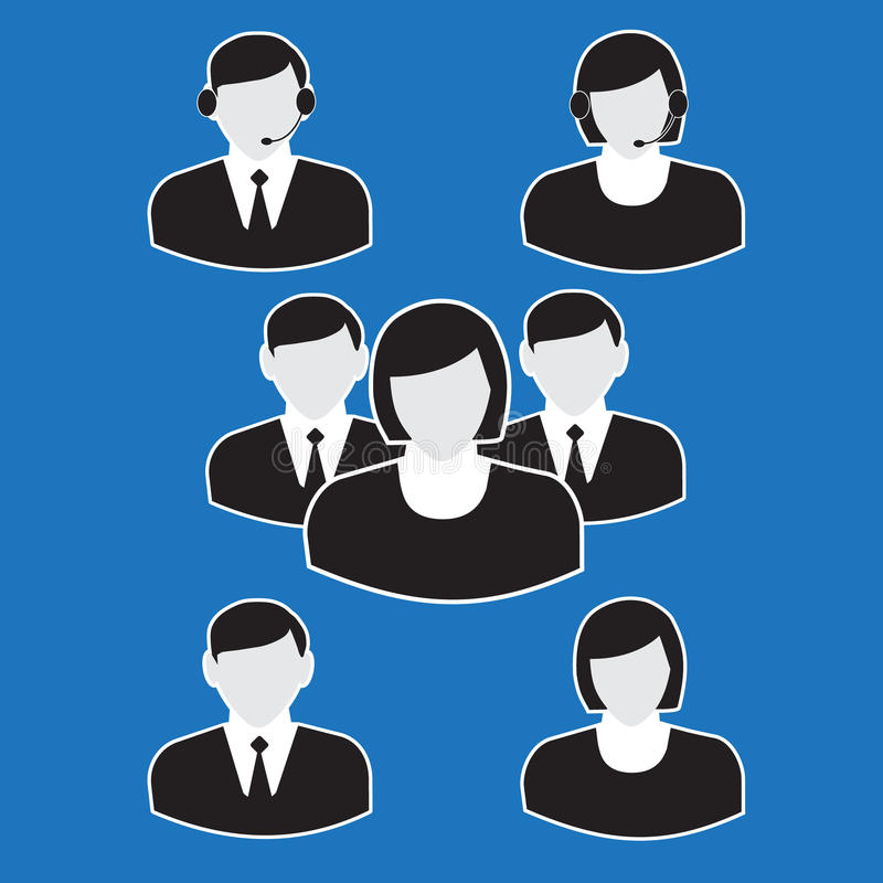 Download Office people icons set stock vector. Image of manager - 38852394