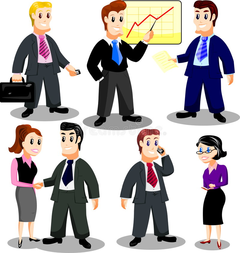 Download Office personnel stock vector. Image of business, file - 8139496