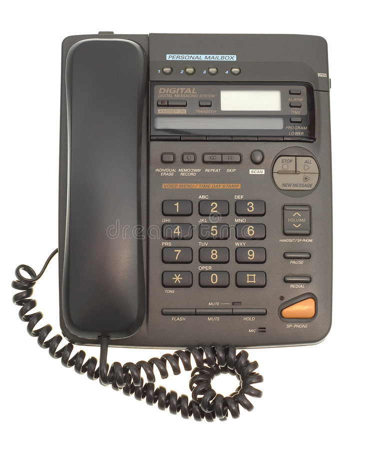 Office Phone With Cord Royalty Free Stock Image