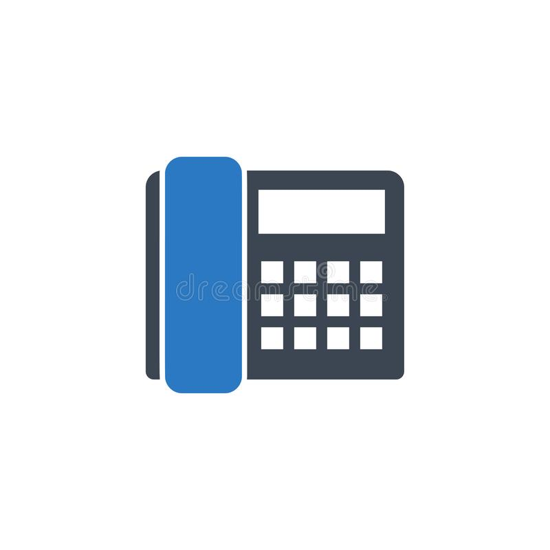 Office Phone related vector glyph icon. Isolated on white background. Vector illustration stock illustration