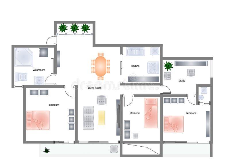 Office plan royalty free illustration