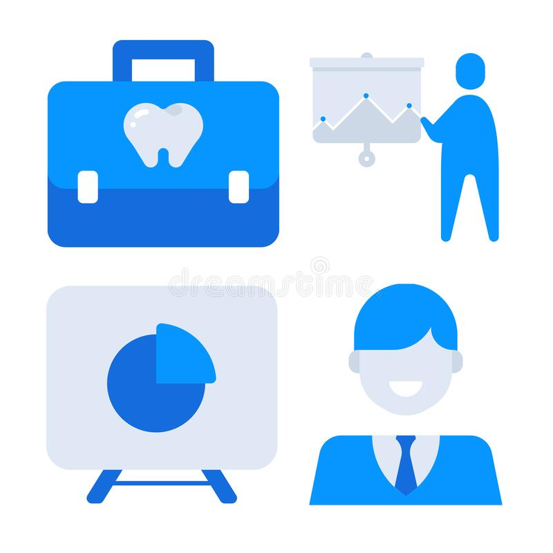 Office and professional icon look awesome royalty free stock images