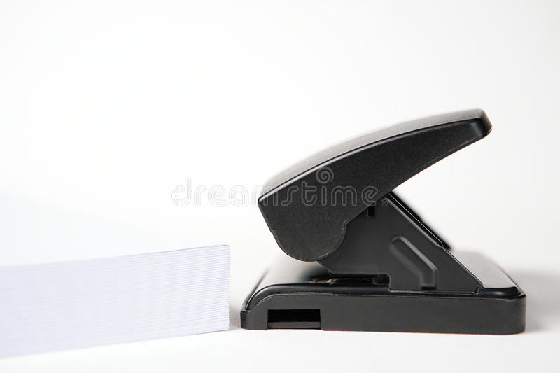 Download Office Puncher with Paper stock image. Image of side - 11441577
