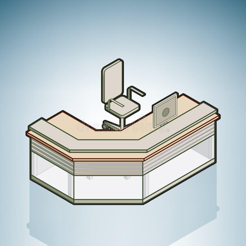 Download Office Reception Desk stock illustration. Image of desk - 14495895