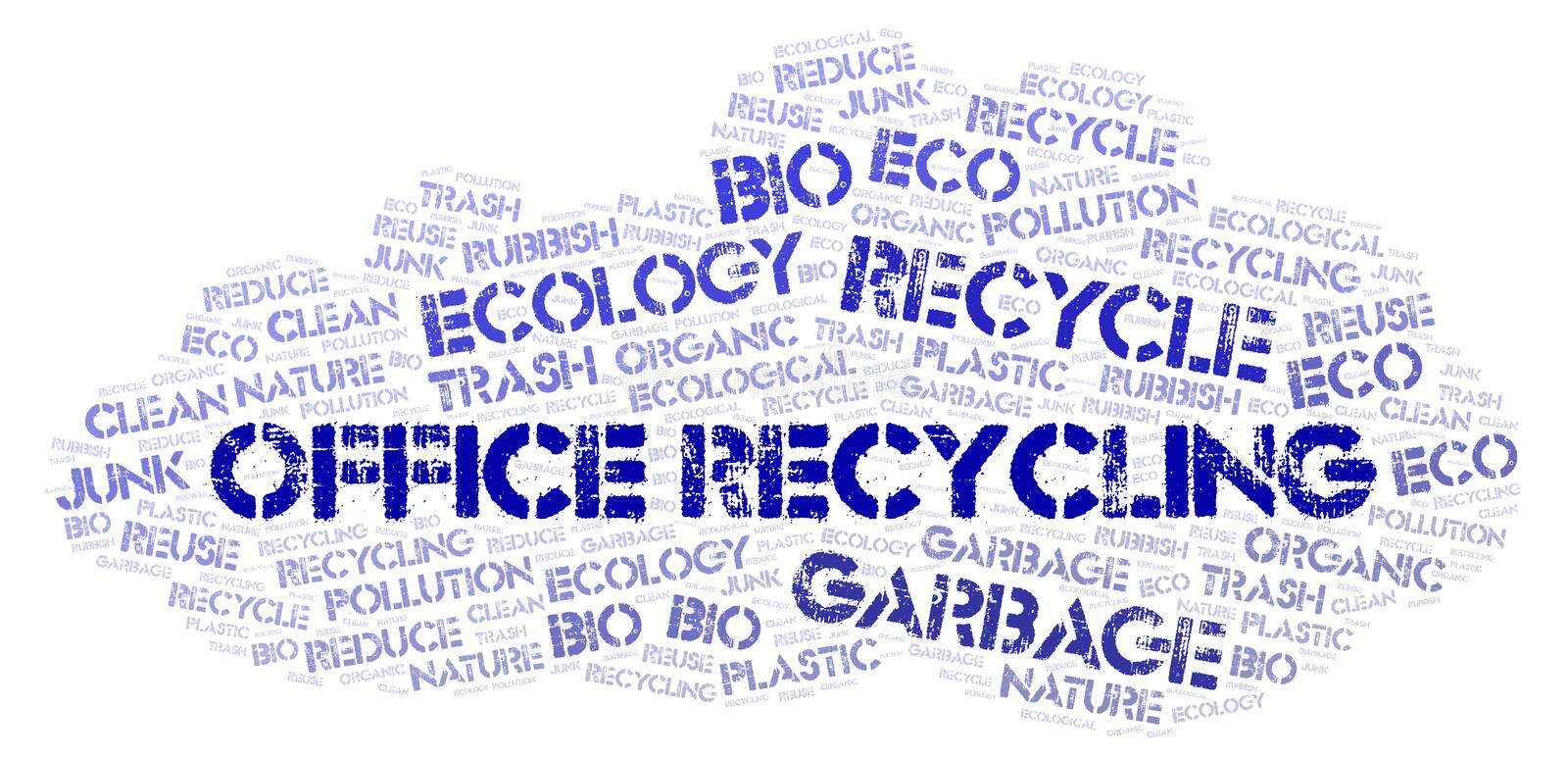 Office Recycling word cloud. Wordcloud made with text only stock photo