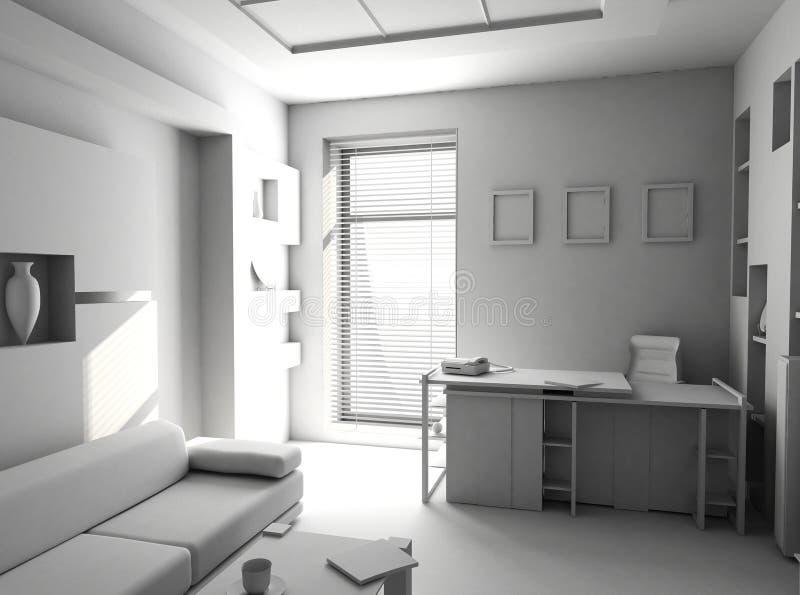 Download Office The Rest Room Blank Interior Stock Illustration - Illustration: 1608802
