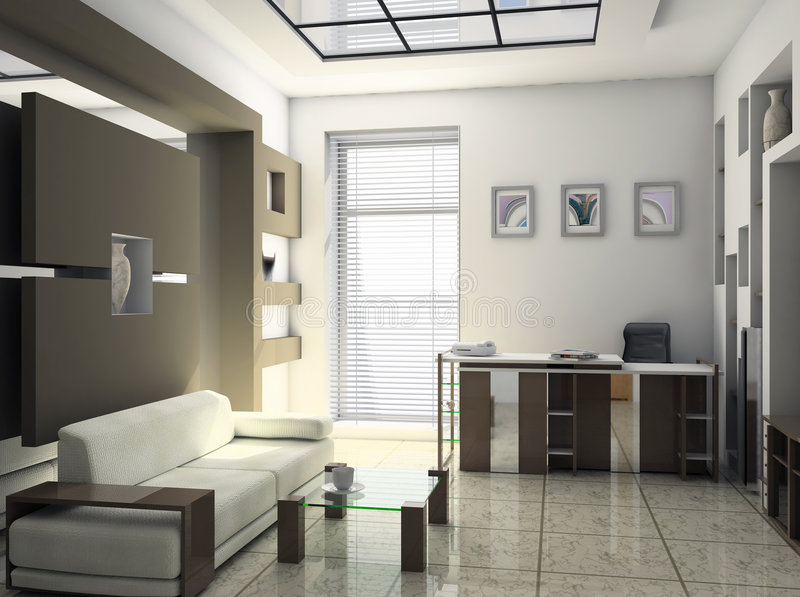 Office rest room interior. Design