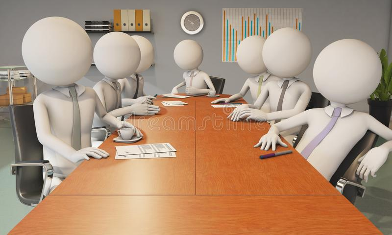 Office reunion. With several worker stock illustration