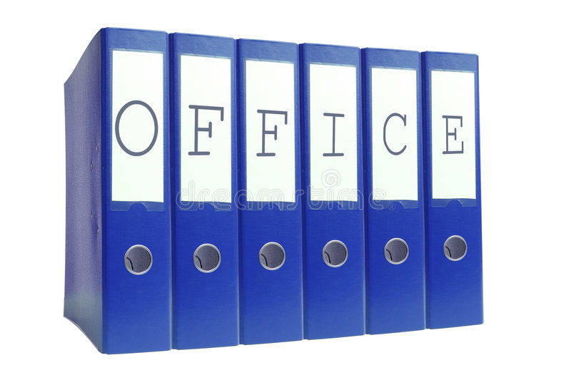 Office ring binders royalty free stock photo