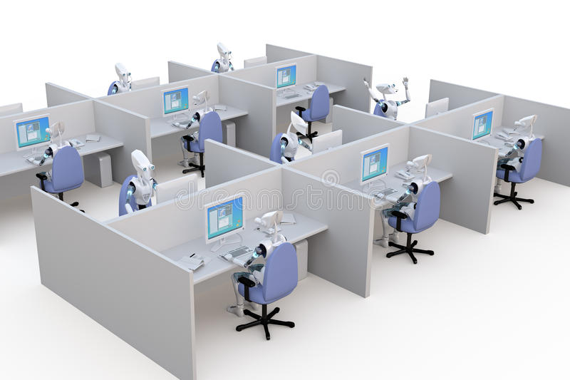 Office Robots royalty free stock image