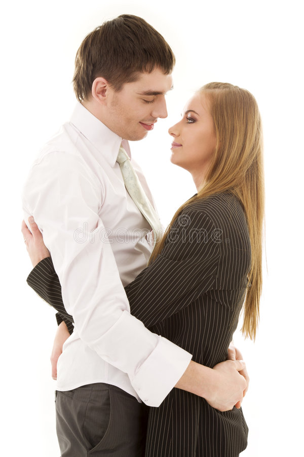 Download Office romance stock image. Image of handsome, hugging - 7442687
