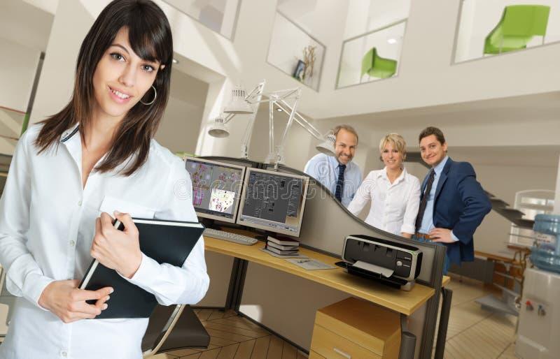 Office scenes. People in a modern beautiful office stock photo