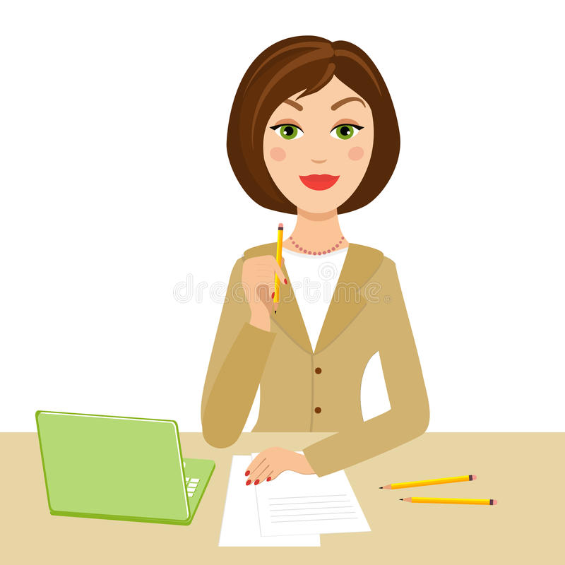 Office secretary royalty free illustration