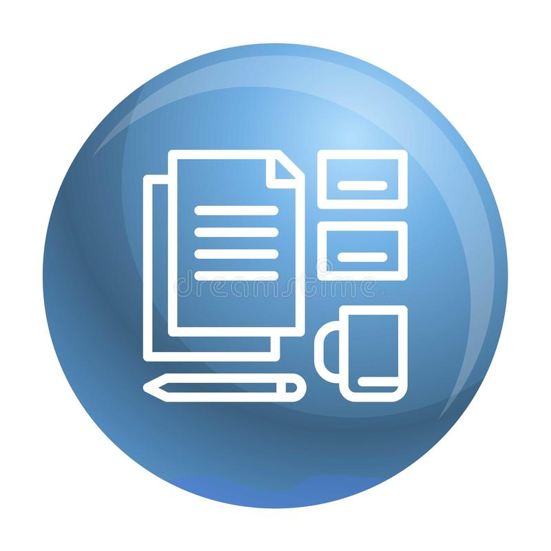 Office set tool icon, outline style stock illustration
