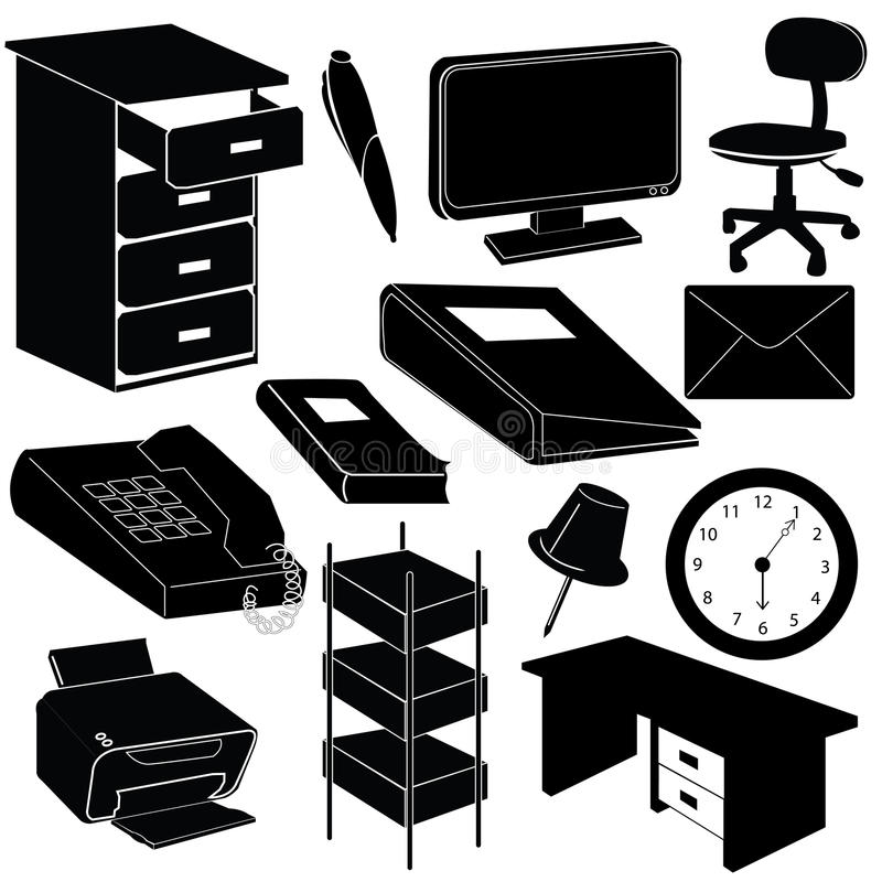Office silhouettes items