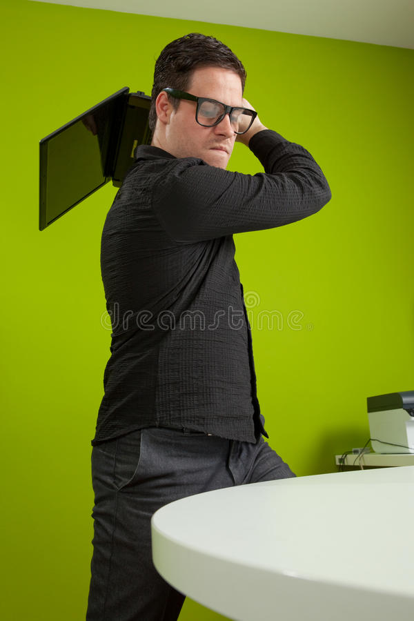 Office situation stock photo