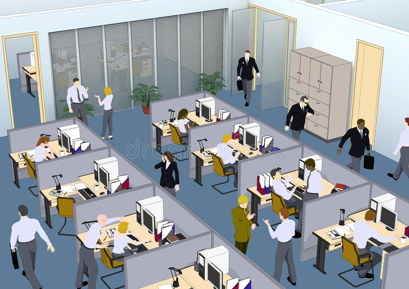 Download Office Situation stock illustration. Image of office, hour - 8120410