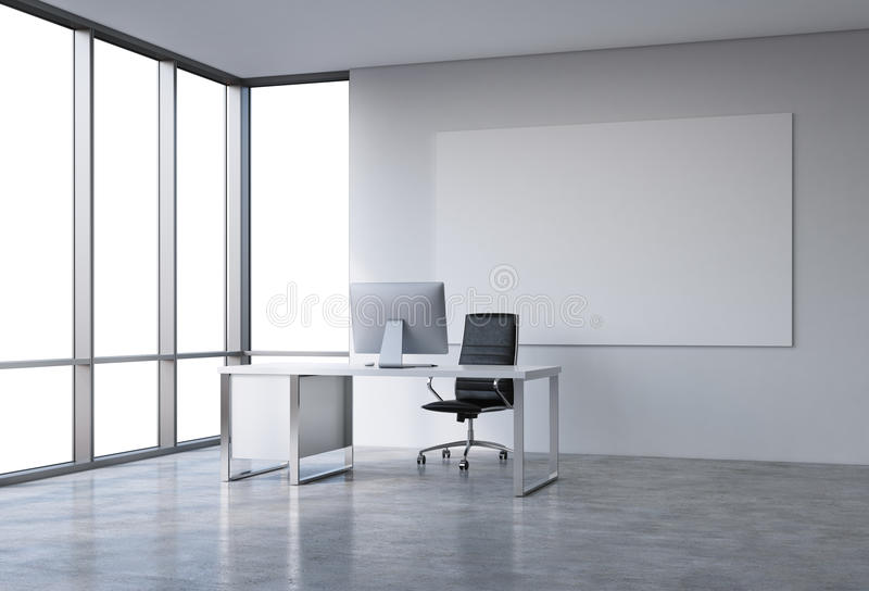 Office in a skyscraper royalty free stock image