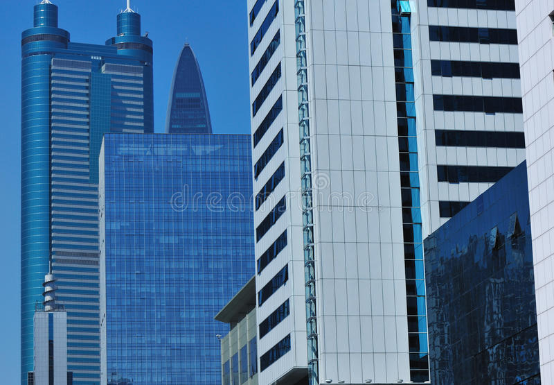 Office skyscrapers royalty free stock photos