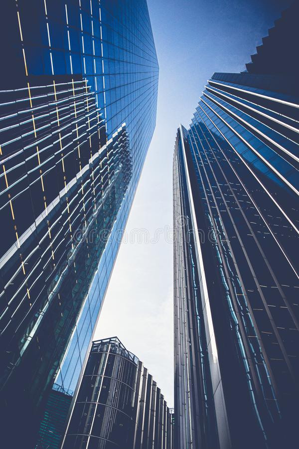 Office skyscrapers in London royalty free stock image